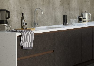 Manston Aluma Cashmere and Linden Ceramic Anthracite