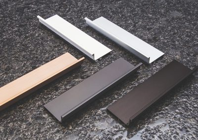 Rails, Aluminium, Bronze, copper, White and Graphite