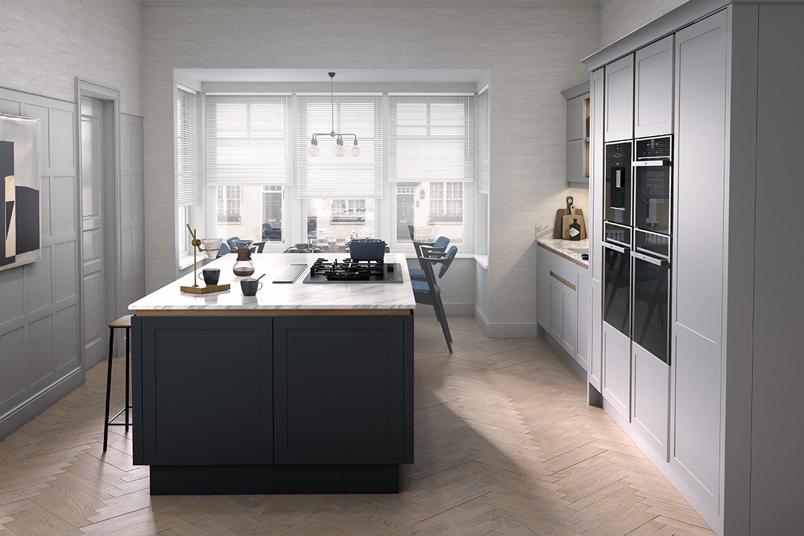 Partridge Grey And Carbon Kitchen