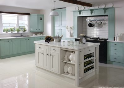 Cotswood Green Blue and Stone White - Painted Fusions Kitchens