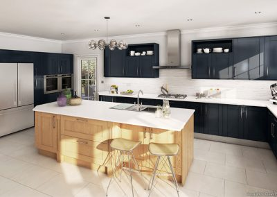 Midsomer Deep Blue & Clear Oak