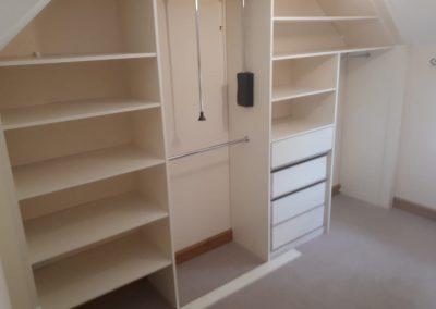 Angled Sliding Wardrobe - interior