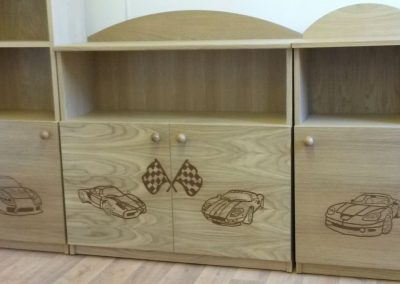 Childs Bedroom Bespoke Joinery Race Cars
