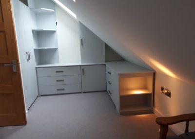 Inbuilt Angled Bedroom Furniture